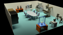 preliminary render of GTEC room 115